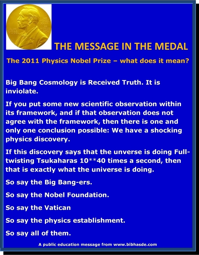 the physics nobel prize total science sham the dreamheron  the 2011 physics nobel prize total science sham the dreamheron chronicles