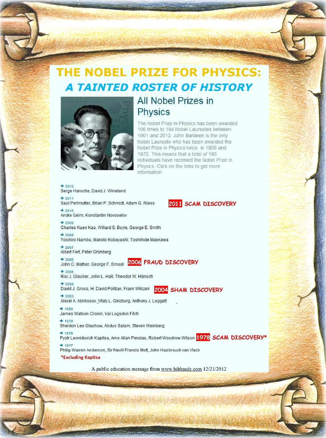 the nobel prize in physics The 1988 nobel prize in physics was awarded to a trio of researchers for their 1962 discovery of the muon-neutrino, based on work conducted at brookhaven.
